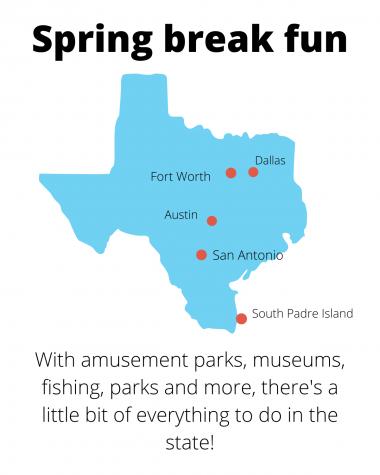 Spring break spots around the state